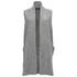 VILA Women's Liana Long Waistcoat - Light Grey: Image 1