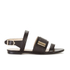 HUGO Women's Plenn Triple Strap Leather Sandals - Black: Image 1