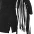 Lavish Alice Women's Suede Fringe Detail Mini Dress - Black: Image 3
