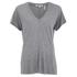 Helmut Lang Women's Deep V Neck T-Shirt - Heather Grey: Image 1