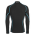 Skins A200 Mens Thermal Long Sleeve Compression Mock Neck Top - Black/Neon Blue: Image 2