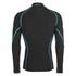 Skins A200 Mens Thermal Long Sleeve Compression Mock Neck Top - Black/Neon Blue: Image 2