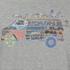 Rip Curl Men's Surf Van Print T-Shirt - Cement Marl: Image 3