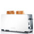 Graef 2 Slice Long Shot Toaster - White Gloss: Image 1
