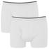Wolsey Men's Twin Pack Keyhole Boxer Shorts - White: Image 1