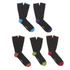 Wolsey Men's 5 Pack Heel and Toe Design Socks - Brights: Image 1