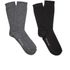 Selected Homme Men's North 2 Pack Socks - Black: Image 1