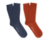 Selected Homme Men's North 2 Pack Socks - Red Dahlia: Image 1