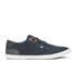 Boxfresh Men's Stern Waxed Canvas Low Top Trainers - Navy/White: Image 1