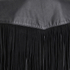Ganni Women's Leather Fringed Shirt Dress - Black: Image 4
