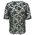 Ganni Women's Lace Short Sleeve Blouse - Black/Botanical Garden: Image 2
