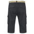Brave Soul Men's Radical Belted Cargo Shorts - Charcoal: Image 2