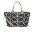 Orla Kiely Women's Stem Zip Holdall Bag - Black: Image 1