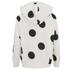 ONLY Women's Oversized Long Sleeve Hooded Sweatshirt - Cream/Black Spots: Image 2