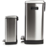 Morphy Richards 977100 Rectangular Pedal Bin Set - Stainless Steel - 50L & 12L: Image 2