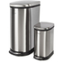 Morphy Richards 977101 Rectangular Pedal Bin Set - Stainless Steel - 40L & 10L: Image 1
