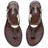MICHAEL MICHAEL KORS Women's MK Plate Thong Flat Sandals - Brown: Image 2