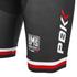 PBK Santini Replica Team Winter Bib Shorts - Red/White/Black: Image 3