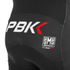 PBK Santini Replica Team Winter Bib Shorts - Red/White/Black: Image 4