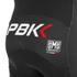 PBK Santini Replica Team Winter Bib Shorts - Red/White/Black: Image 4