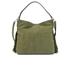 Diane von Furstenberg Women's Voyage Boho Nubuck Fringe Shoulder Bag - Olive: Image 5