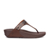 FitFlop Women's Aztek Chada Suede Toe Post Sandals - Chocolate: Image 2