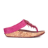 FitFlop Women's Cha Cha Leather/Suede Tassel Toe Post Sandals - Bubblegum: Image 2