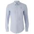 Vivienne Westwood MAN Men's Classic Stretch Stripe Long Sleeve Shirt - Blue Stripe: Image 1
