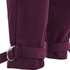 Lavish Alice Women's D-Ring Belt and Cuff Tapered Leg Trousers - Aubergine: Image 6