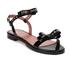 REDValentino Women's Eyelet Bow Flat Sandals - Black: Image 3