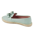 REDValentino Women's Eyelet Bow Leather Espadrilles - Mint: Image 4
