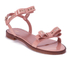 REDValentino Women's Eyelet Bow Flat Sandals - Nude: Image 3
