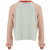 Wildfox Women's Luca Crop Bad Date Long Sleeve Top - Rainy Day Blue/Vintage Lace: Image 3