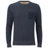 BOSS Orange Men's Wealer Patterned Sweater - Navy: Image 1