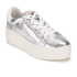 Ash Women's Cult Metal Rock/Nappa Wax Flatform Trainers - Silver/White: Image 4