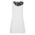 Diane von Furstenberg Women's Kaleb Combo Emb Dress - White/Black: Image 1