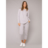Derek Rose Women's Devon Sweat Top - Light Grey: Image 2