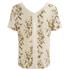 VILA Women's Corabell Short Sleeve Blouse - Sandshell: Image 2