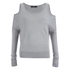 VILA Women's Count Cold Shoulder Jumper - Light Grey Melange: Image 1