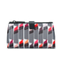 Lulu Guinness Women's Lipstick Print Double Make Up Bag - White/Black: Image 1