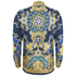 Versace Collection Men's Silk Printed Shirt - Blue: Image 2
