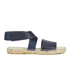 Prism Women's Naxos Ankle Strap Leather Sandals - Marine: Image 1