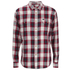 OBEY Clothing Men's Ridley Woven Long Sleeve Shirt - Red Check: Image 1