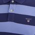 GANT Men's Barstripe Pique Rugger Polo Shirt - Lavender Blue: Image 3