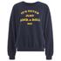 OBEY Clothing Women's Never Just Rock N Roll Sweatshirt - Navy: Image 1