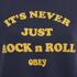 OBEY Clothing Women's Never Just Rock N Roll Sweatshirt - Navy: Image 4