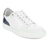 AMI Men's Low Top Trainers - White/ Navy: Image 4