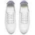 AMI Men's Low Top Trainers - White/ Blue: Image 2