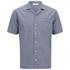 AMI Men's Collar Detail Short Sleeve Shirt - Chambray: Image 1
