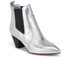 Marc Jacobs Women's Kim Metallic Leather Heeled Chelsea Boots - Silver: Image 2
